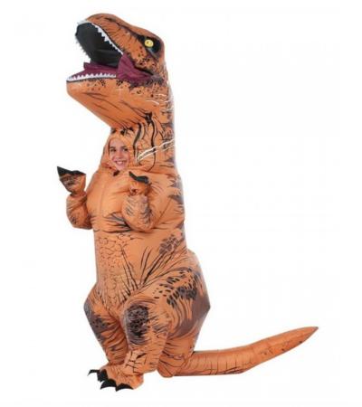 Oppustelig T Rex Børnekostume 400x450 - Dinosaur kostume til børn og baby