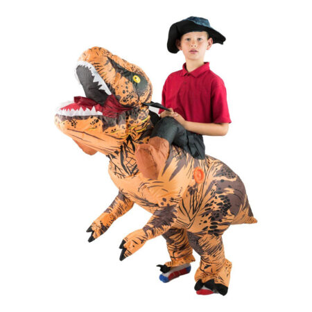 Oppusteligt T rex børnekostume 450x450 - Dinosaur kostume til børn og baby