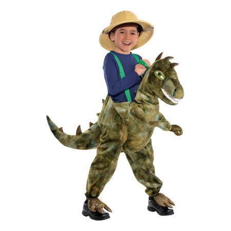 Ridende T Rex Børnekostume i 450x450 - Dinosaur kostume til børn og baby