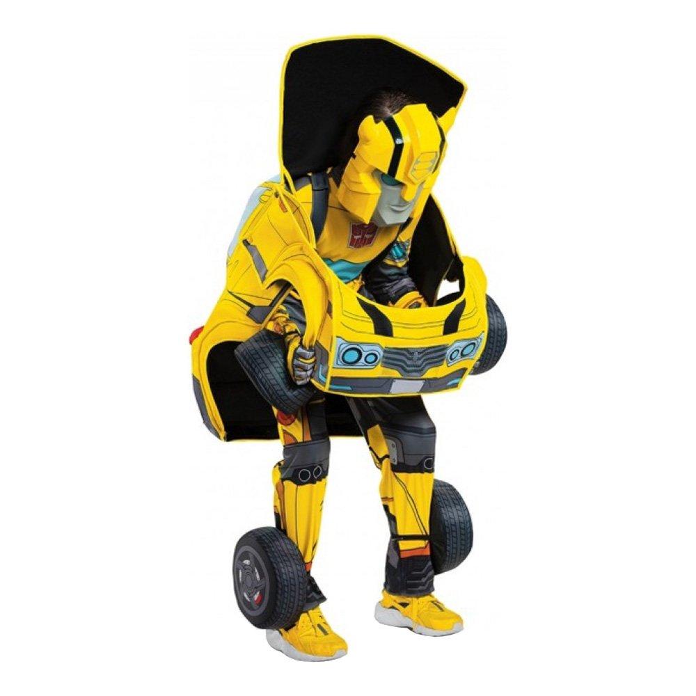 TRANSFORMERS BUMBLEBEE TRANSFORMERBAR BØRNEKOSTUME  - Transformers kostume til børn