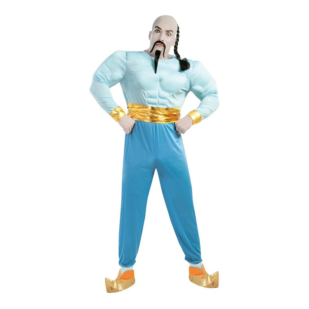 aladdin genie kostume blåt kostume arabisk kostume karneval sidste skoledag 1001 nat kostume arabisk udklædning