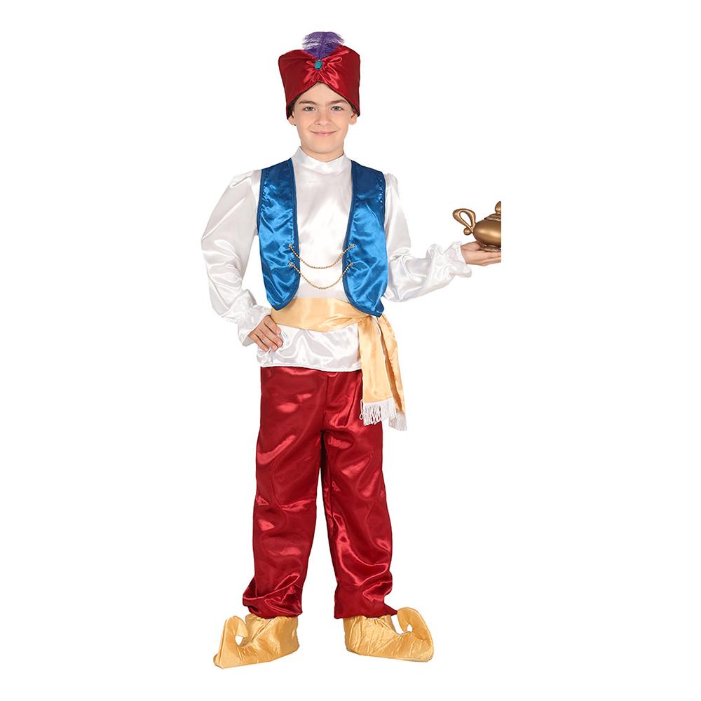 arabisk kostume til børn arabisk prins børnekostume aladdin kostume til drenge arabiens drøm kostume til børn
