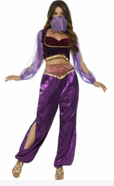 arabisk mavedanser kostume arabisk prinsesse kostume haremskvinde udklædning arabisk kostume til voksne lilla kostume