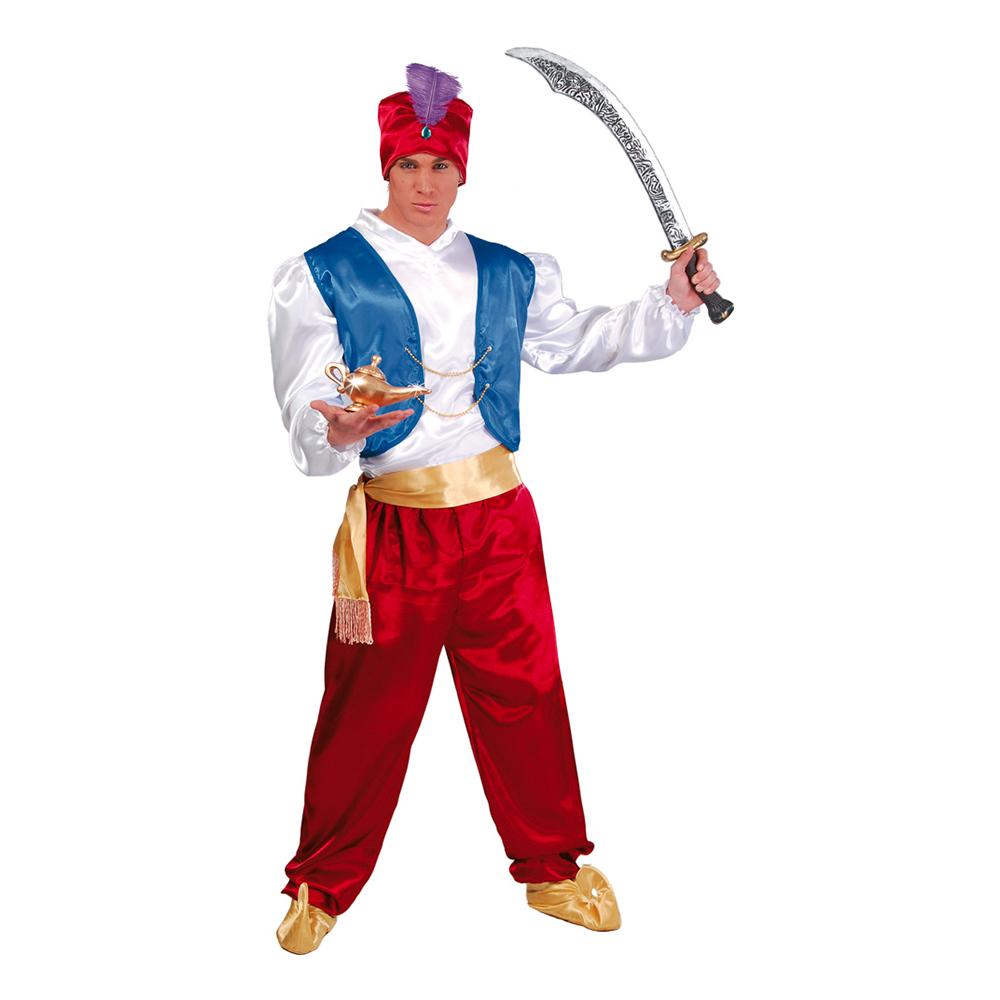 arabisk prins sinbaad søfarer aladdin arabisk kostume karneval sidste skoledag 1001 nat kostume arabisk udklædning