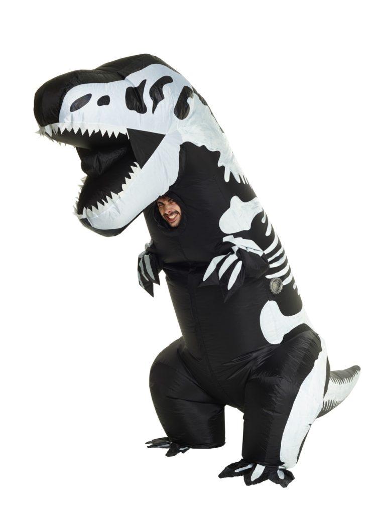 dinosaur kostume til voksne dino kostume til voksne dinosaur kostume teen oppustelig skelet T-rex dino kostume dino kostume karnevalskostume