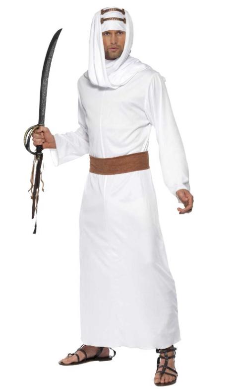 egyptisk røver kostume arabisk kostume 1001 nat kostume arabisk udklædning hvidt kostume arabisk kostume til voksne