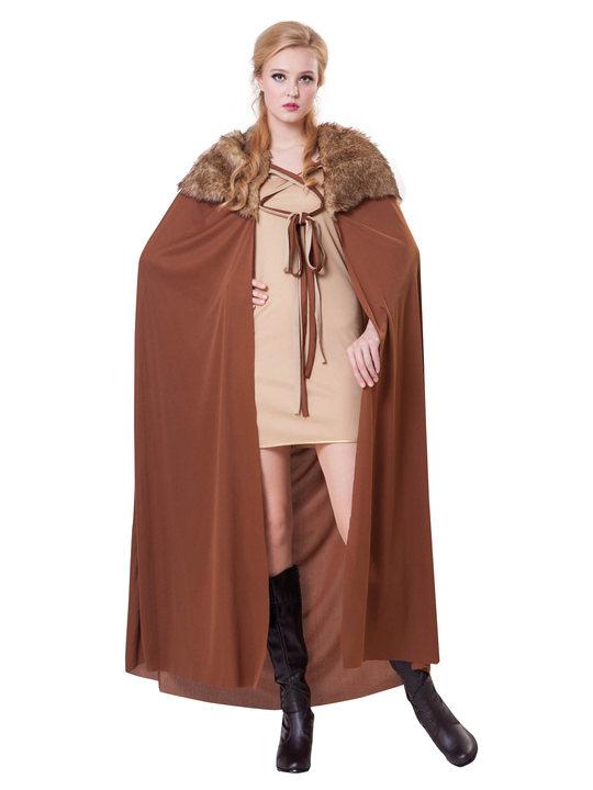 games of thrones kostume til voksne northern knight kappe kostume til kvinder