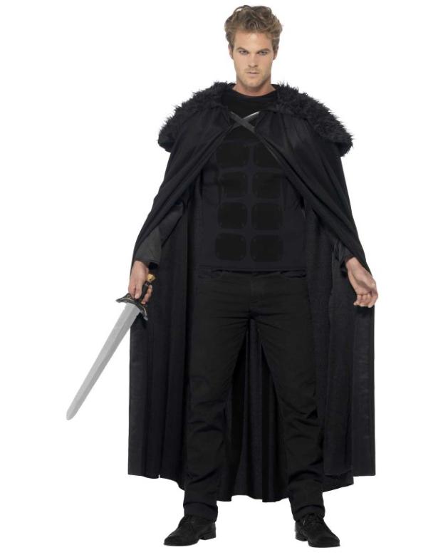 games of thrones kostume til voksne seriekostume til mænd den mørke barbar kostume sort kostume til mænd fastelavnskostume til voksne