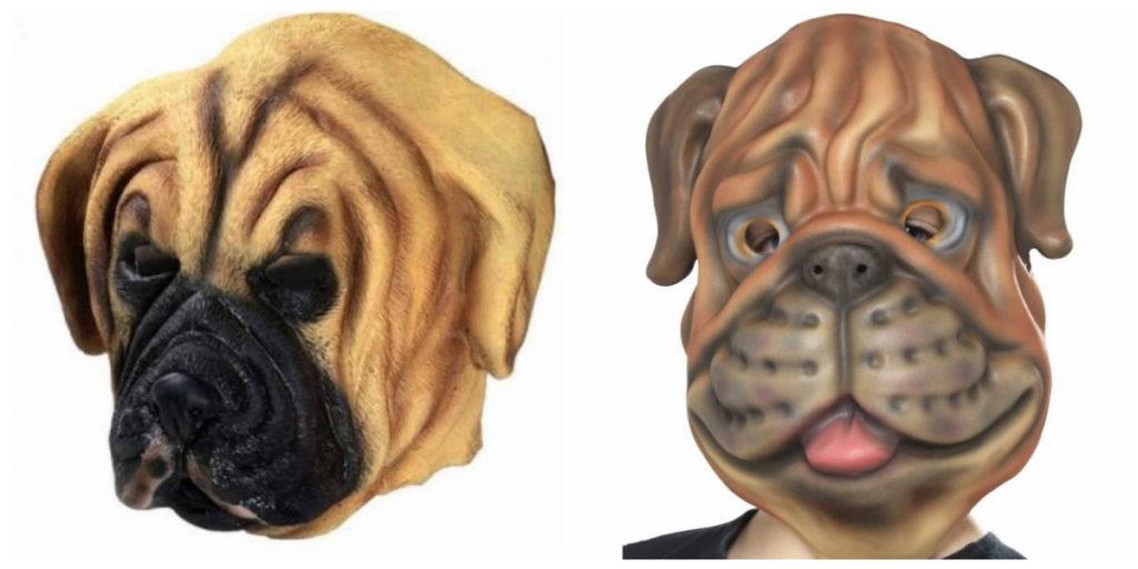 hundekostume til voksne mastif hund udklædning hundemaske bulldog voksenkostume kostumeuniverset