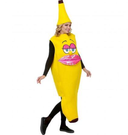 miss banana kostume 1 424x450 - Banan kostume til voksne