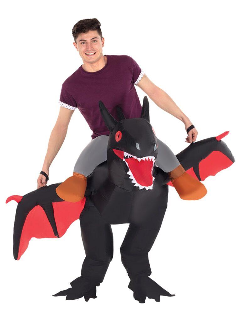 oppustligt drage kostume 768x1024 - Drage kostume til voksne