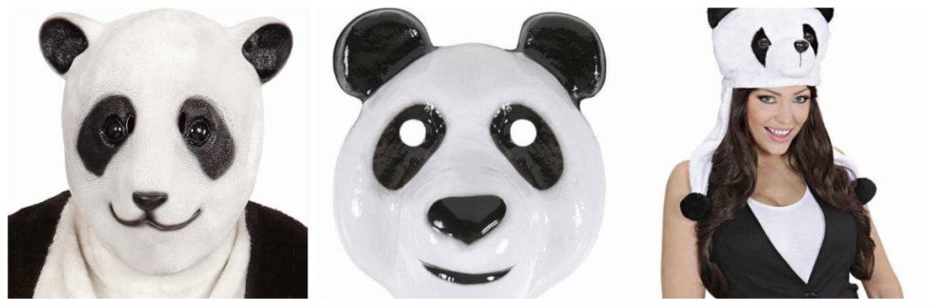 panda kostume til voksne maske pandakostume tilbehør til panda udklædning voksnekostume sort kostume kostume dyrekostume truet dyreart kostume kinesisk kostume