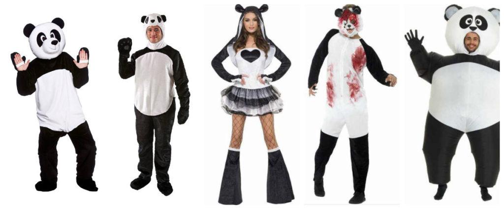panda kostume til voksne pandakostume tilbehør til panda udklædning voksnekostume sort kostume kostume dyrekostume truet dyreart kostume kinesisk kostume