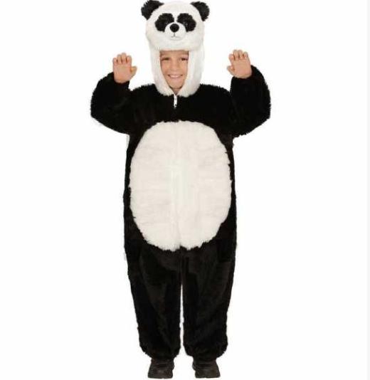 pandakostume til børn panda kostume til børn panda børnekostume panda udklædning til børn heldragt plys