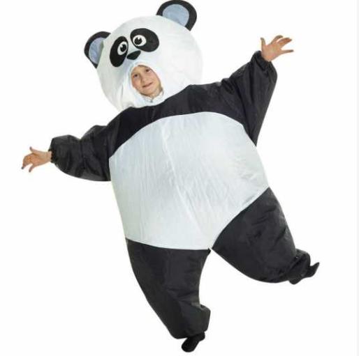 pandakostume til børn panda kostume til børn panda børnekostume panda udklædning til børn oppusteligt panda kostume