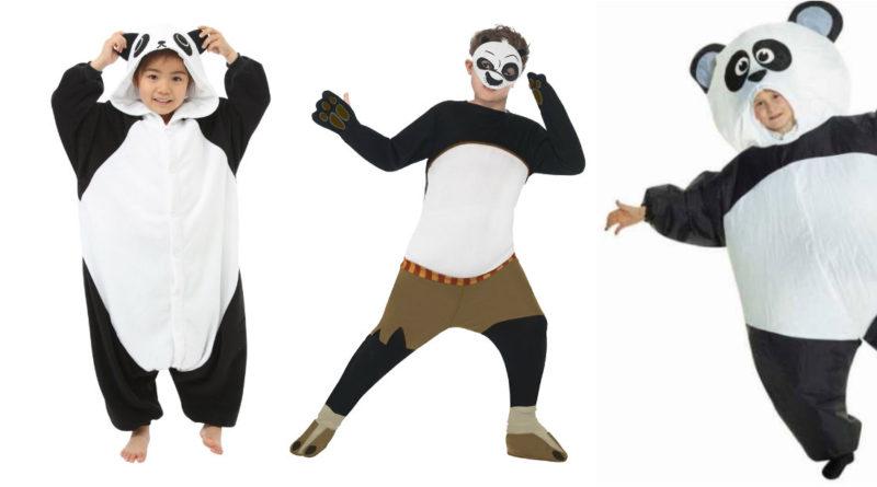 pandakostume til børn panda kostume til baby panda børnekostume panda udklædning til børn heldragt oppustelig kong fu panda kostume