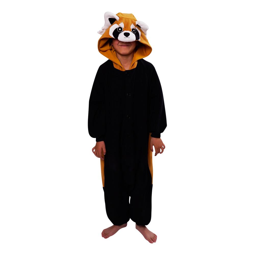 pandakostume til børn panda kostume til baby panda børnekostume panda udklædning til børn heldragt rød panda