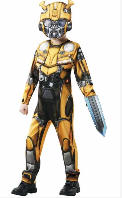 transformers kostume til børn bumblebee luksus kostume børnekostume fastelavnskostume