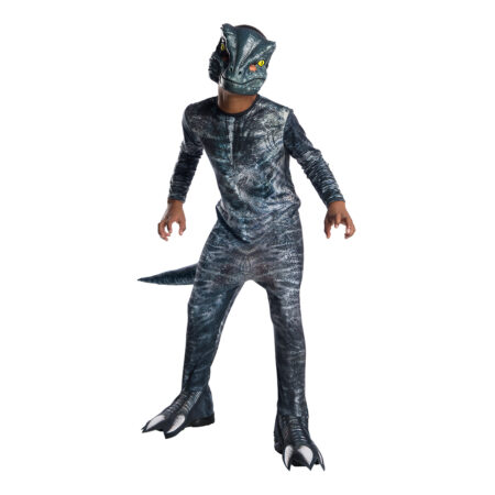 velociraptor kostume til børn blue dino kostume til børn