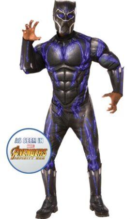 Black Panther Deluxe Kostume 285x450 - Black Panther kostume til voksne