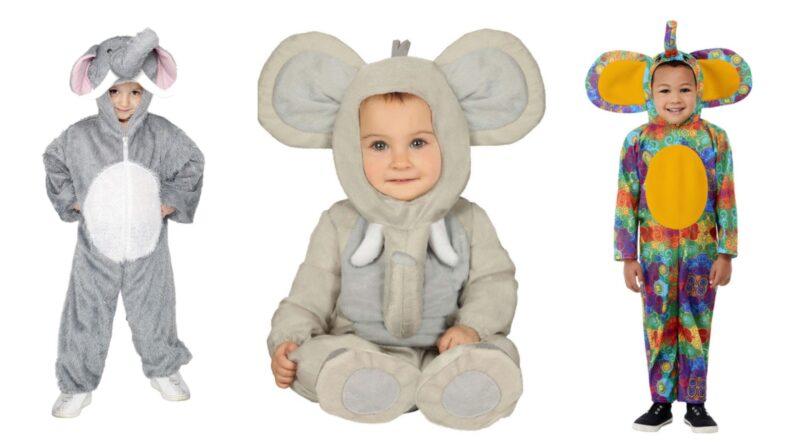 Elefant kostume til børn 800x445 - Elefant kostume til børn og baby
