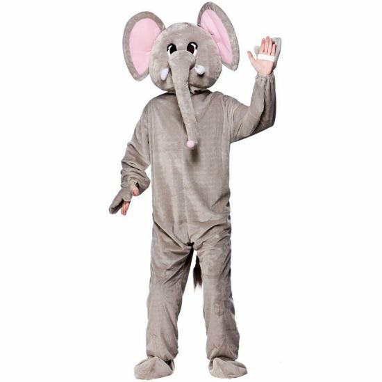 Elefant kostume - Elefant kostume til voksne