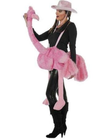 Flamingo voksenkostume 348x450 - Flamingo kostume til voksne