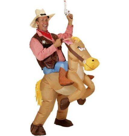 Oppusteligt heste kostume 428x450 - Hest kostume til voksne