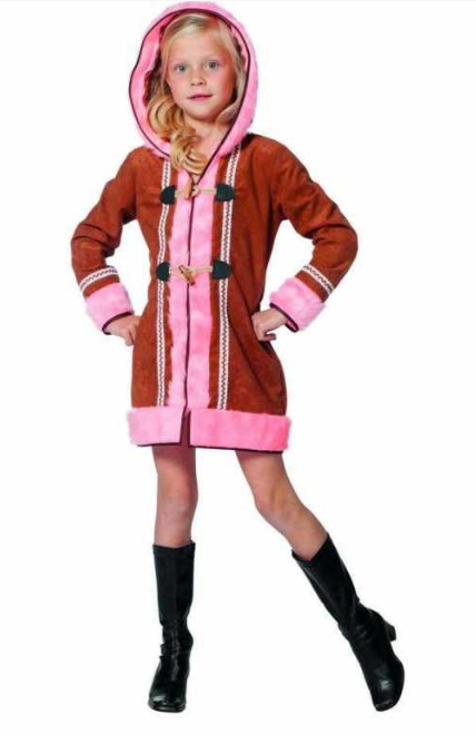 eskimo kostume til børn eskimo pige kostume eskimo børnekostume eskimo udklædning til børn fastelavnskostume til piger arktisk kostume til børn