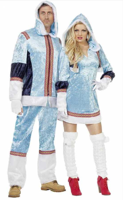 eskimo kostume til voksne blå mand eskimo fastelavnskostume til voksne grønland kostume fanger kostume arktisk kostume