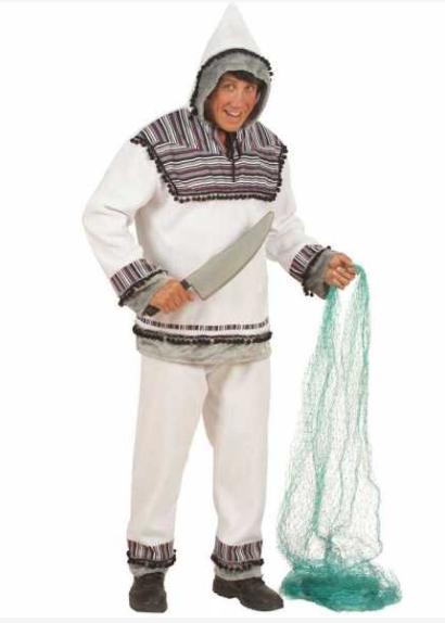 eskimo kostume til voksne hvid eskimo fastelavnskostume til voksne grønland kostume fanger kostume arktisk kostume