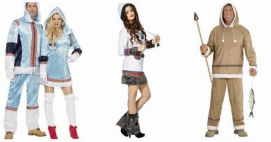 eskimo kostume til voksne hvid eskimo kjole fastelavnskostume til voksne grønland kostume fanger kostume arktisk kostume parkostume par kostume arktisk kostume