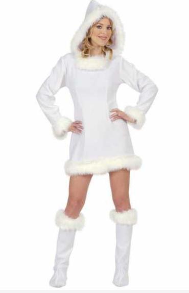 eskimo kostume til voksne hvid eskimo kjole fastelavnskostume til voksne grønland kostume fanger kostume arktisk kostume