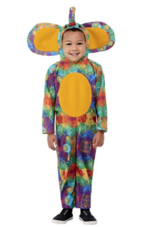 farverig elefant kostume til børn 309x450 - Elefant kostume til børn og baby