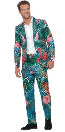 flamingo jakkesæt hawaii jakkesæt kostume til mænd tropisk kostume til voksne tropisk jakkesæt til voksne spraglet jakkesæt