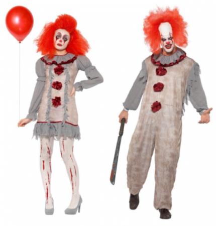 halloween par kostume vintage killer klovn par kostume til voksne