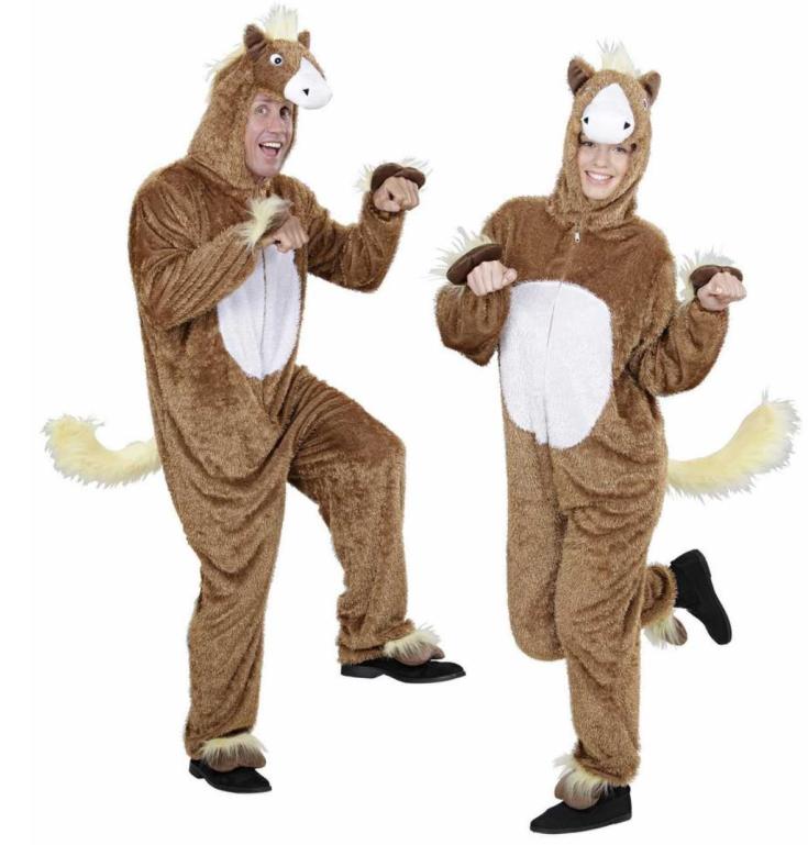 hest kostume til voksne hestekostume til voksne fastelavnskostume til voksne dyrekostume hestehoved udklædning plyskostume
