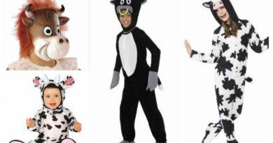 ko kostume til børn ko med yver ko fastelavnskostume ko børnekostume kostumeuniverset sort og hvidt kostume ko udklædning til børn unge baby ko maske til børn