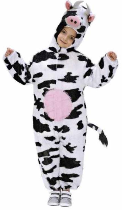 ko kostume til børn ko med yver ko fastelavnskostume ko børnekostume kostumeuniverset sort og hvidt kostume ko udklædning til børn