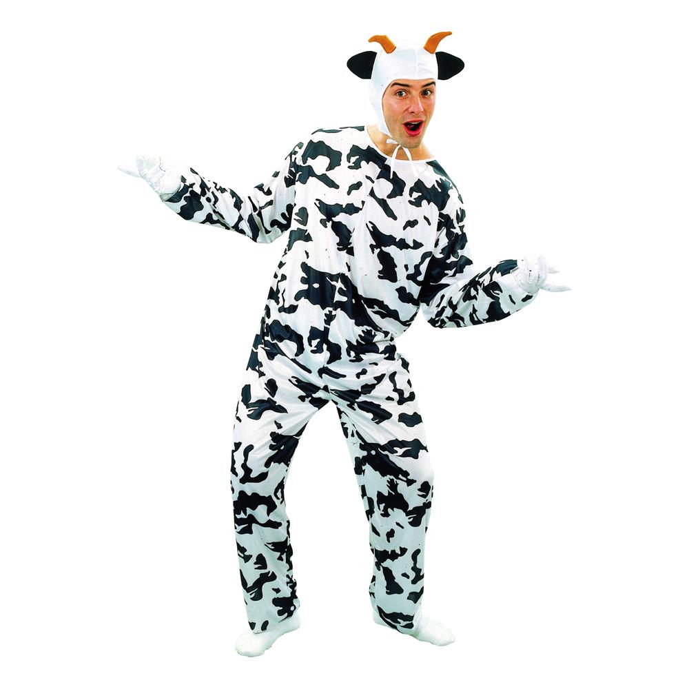 ko kostume til voksne billigt ko kostume malkeko kostume til voksne ko udklædning fastelavnskostume til voksne bondegårdsdyr kostume