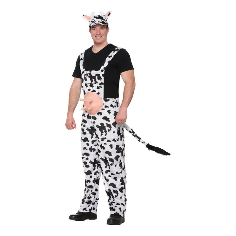 ko kostume til voksne smækbukser ko kostume malkeko kostume til voksne ko udklædning fastelavnskostume til voksne bondegårdsdyr kostume