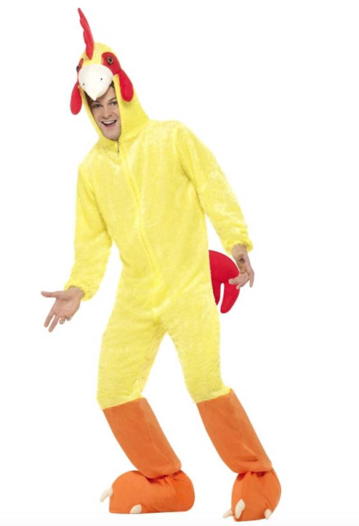 kylling kostume 699x1024 - Kylling kostume til voksne