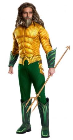 luksus aquaman kostume til voksne grønt kostume til voksne guld kostume til voksne auqaman udklædning mand
