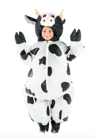 oppustelig ko kostume 305x450 - Ko kostume til børn og baby