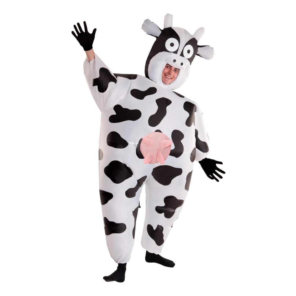 oppustelig ko kostume - Ko kostume til voksne