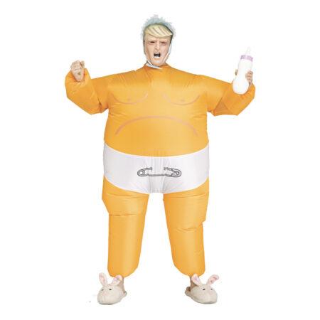 oppusteligt baby præsident kostume 450x450 - Donald Trump kostume til voksne
