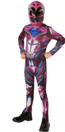 pink power rangers kostume til børn power rangers børnekostume 6 år superhelt kostume til børn