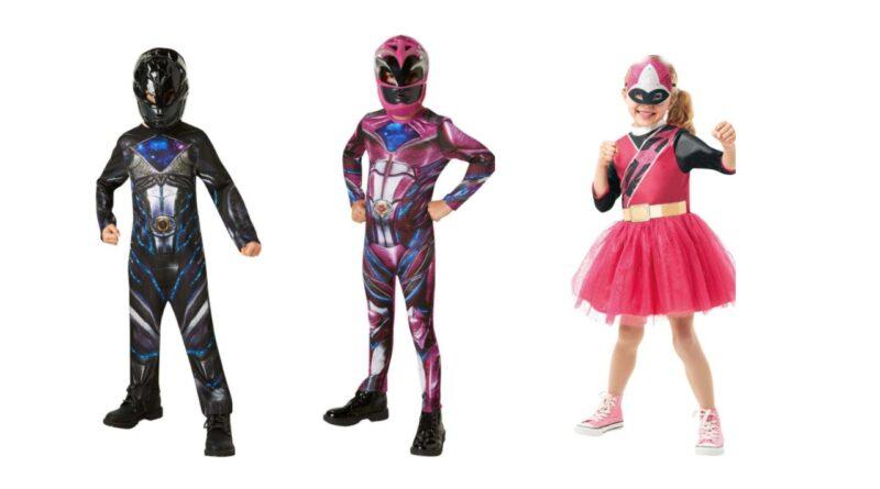 power ranger kostume til barn power rangers ninja kostume børnekostume med maske fastelavnskostume med mundbind kostume med mundbind