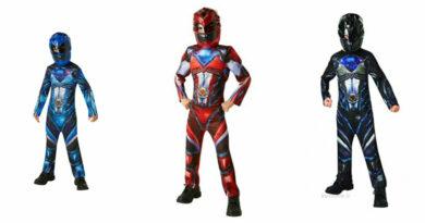 power rangers kostume sort power ranger kostume rød power ranger udklædning power rangers børnekostume blå power ranger fastelavnstøj superhelte kostume til børn
