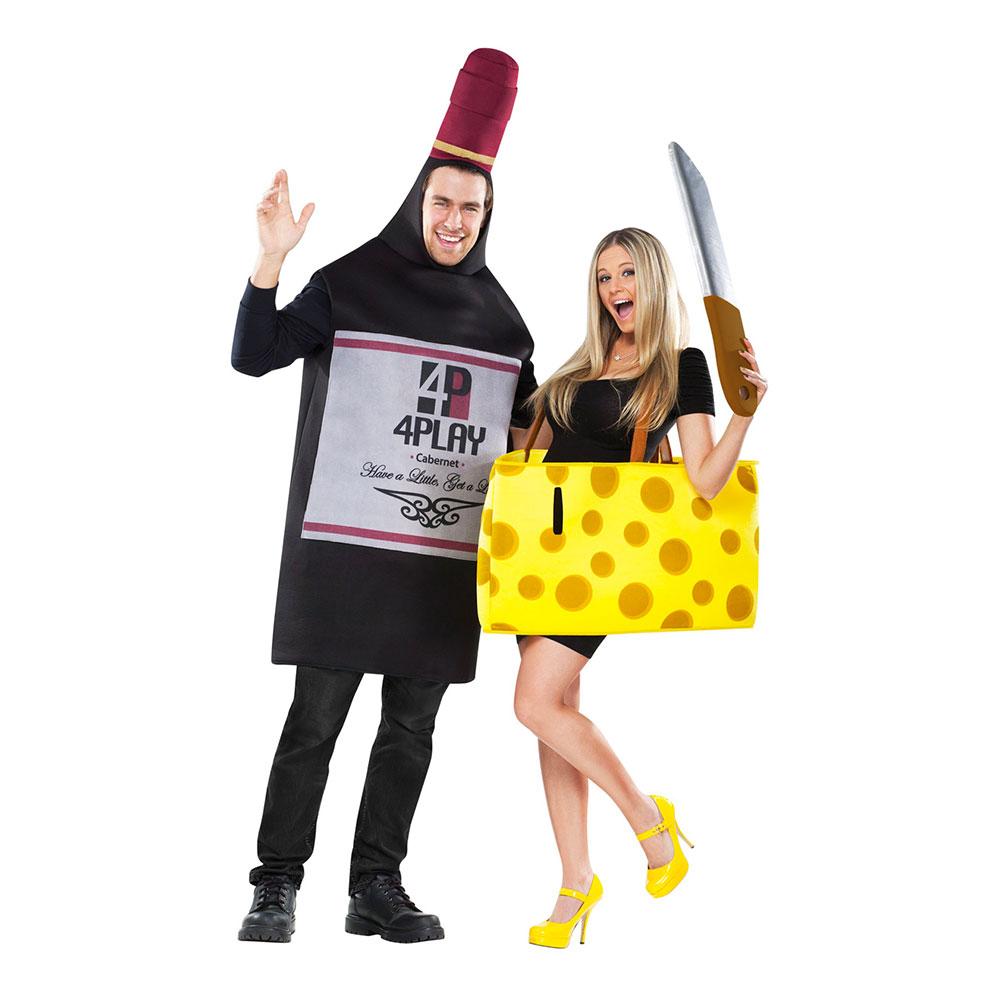 vin og ost par kostume til voksne - Par kostumer til voksne